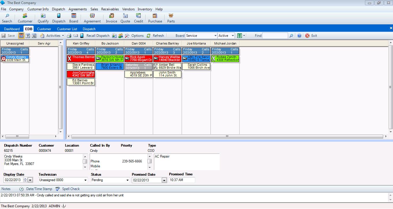 Dispatching software - 1